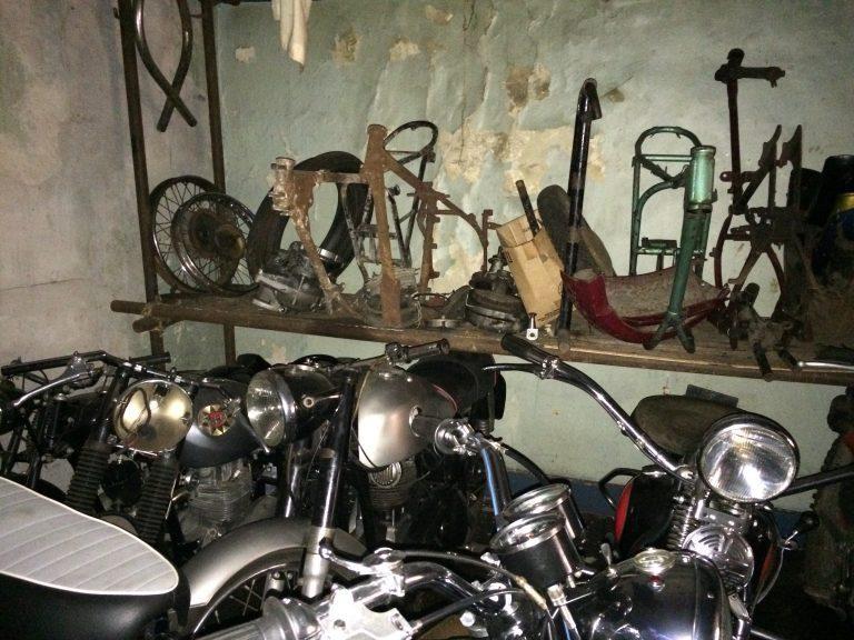 Stock and motorbikes everywhere