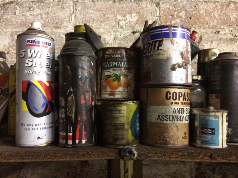 Oil and grease cans of various kinds and vintages